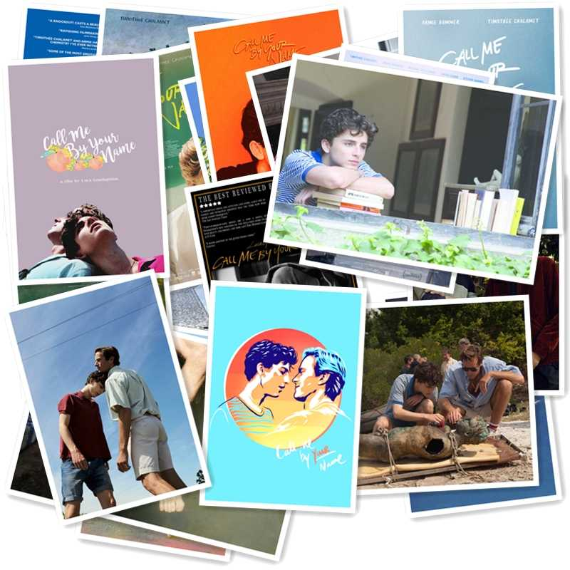 Call Me by Your Name 20/pcs PVC Series Sticker Home Decor Fridge Styling Wall Travel Suitcase Graffiti Styling Stickers