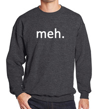 Men's tracksuits 2017 spring winter printed Meh Internet Geek Nerd funny fashion fleece hoodies men sweatshirt harajuku hip hop