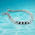 Korean version of Venice Men 925 sterling silver bracelet male fashion personality crude Bracelets jewelry
