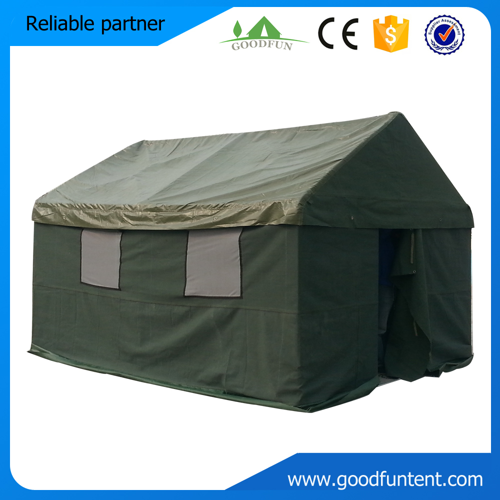 Waterproof high quality military canvas wall tent-in Tents