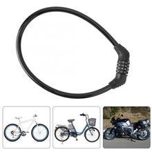 Password Lock 4 Digit Password Combination Lock Bike Bicycle Motorbike Anti-theft Security Steel Cable Lock 10pcs 3461ag 4 digit 0 36