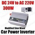 Frete grátis porta USB transformador de tensão de carro Automático de Potência Do Inversor Conversor 24 V DC para AC 220 V 300 W modificado Onda Senoidal