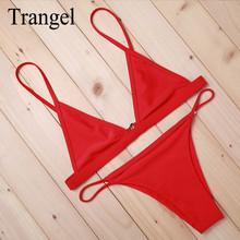 Trangel бренд бикини 2017 купальники купальник bikinis женщины красный бикини сексуальные женщины бразильское бикини пляж носить горячий продаже