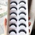 30 pares handmade cílios postiços bagunçado cotton stalk natural a longo cílios vison para feminino cílios falsos extensions ferramenta beauty