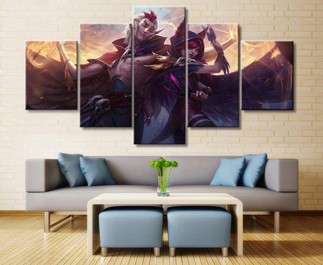 Aliexpress.com : Buy 5 Panel LOL League of Legends Xayah/Rakan Game ...