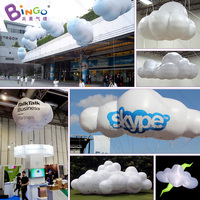 2018 Newest 2.3X1.3X1.5 m big inflatable clouds with LED light for decoration vivid lighting clouds model for stage prop toys