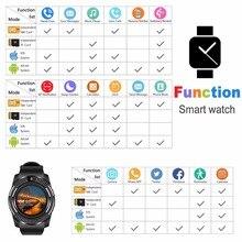 GEJIAN smart watch Bluetooth pantalla táctil Android impermeable de los deportes de los hombres y las mujeres smart watch con cámara ranura para tarjeta SIM PK DZ09