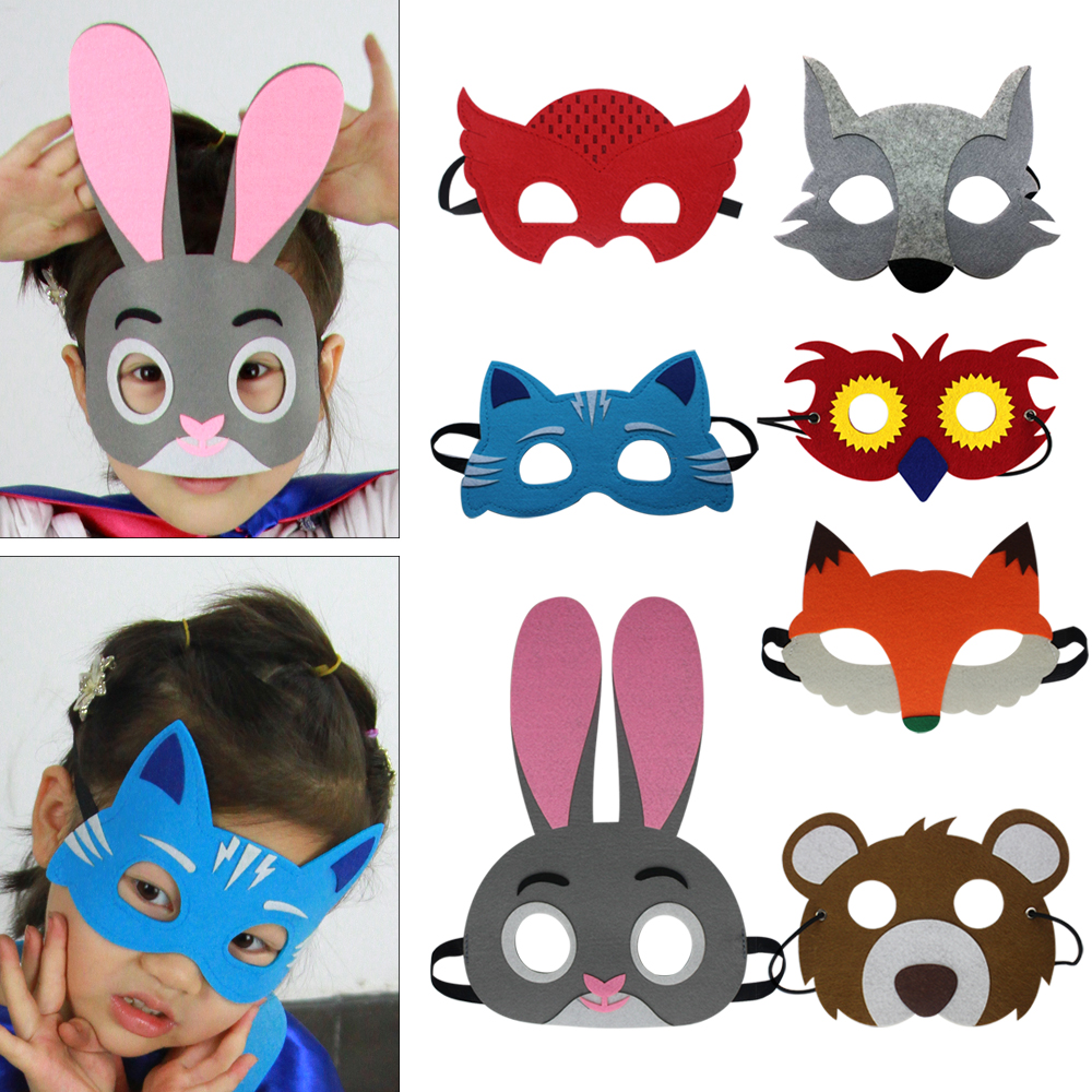 Special Animal Mask Toddler Costume Jungle Mask Cartoon Birthday Party The Mask Favor Theme Christmas Costume for Girls Gifts