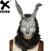 XCOSER New Donnie Darko Bunny Mask Rabbit Yarn Frank Helmet Cosplay Costume Accessories Cosplay Props for Masquerade Halloween