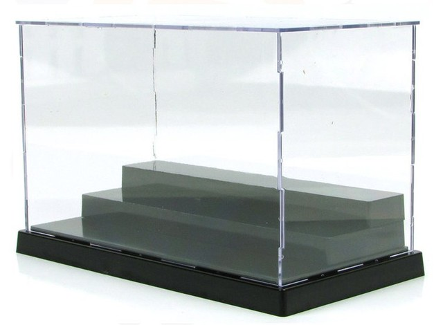 New Transparent 3 layers acrylic plastic display case for anime Action figures doll model display box collection show case