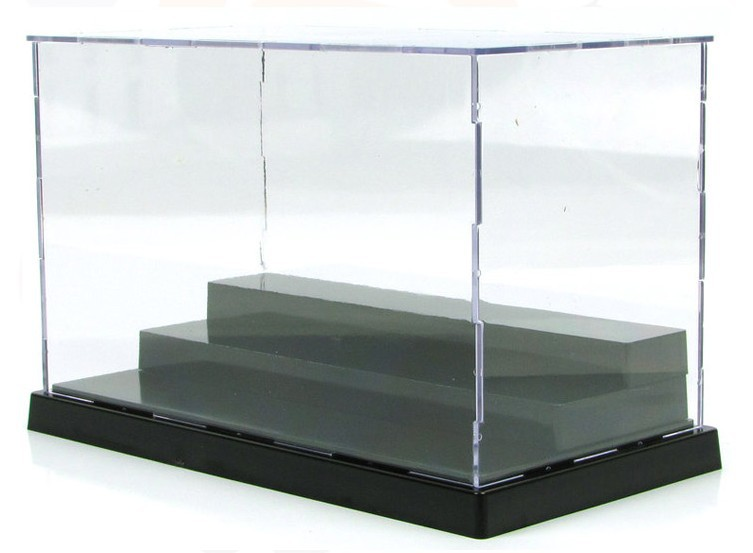 New Transparent 3 layers acrylic plastic display case for font b anime b font Action figures