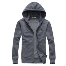 New hot spring autumn 2016 men's Korean wild fashion casual zipper couple long-sleeved hooded simple solid color cardigan jacket