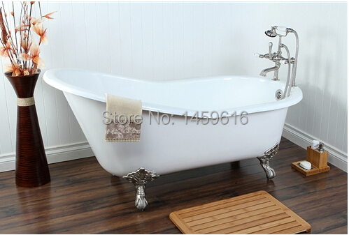 Free Shipping 60 Cast Iron Slipper Clawfoot Tub Not Include Faucet And Drainer Deliver To You By Ocean Shippingw7002 2