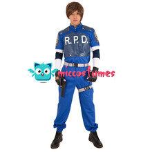 miccostumes Leon S. Kennedy R.P.D Cosplay Costume Uniform Set Men Halloween Outfit