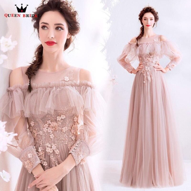 Evening     Dresses   2019 Prom Gown Vestido De Festa Women Banquet Vintage Long Formal   Dress   New Style Robe de soiree JK31
