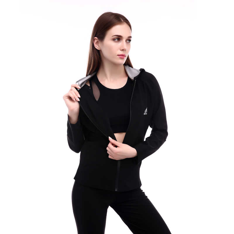 Новинка; Лидер продаж Для женщин спортивные Потливость куртка Длинные рукава для занятий фитнесом и Корректирующее белье Топы моделирующее белье # ST2142