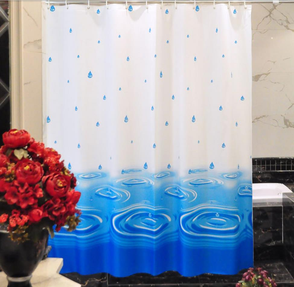 Free shipping shower curtain Waterproof curtain, bathroom partition door window blind ...