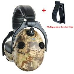 Eletrônico Caça Tiro Proteção de Orelha Muff Da Orelha Fones De Ouvido Anti-ruído Protetor Auditivo de Amplificação de Som Fone De Ouvido Earmuffs