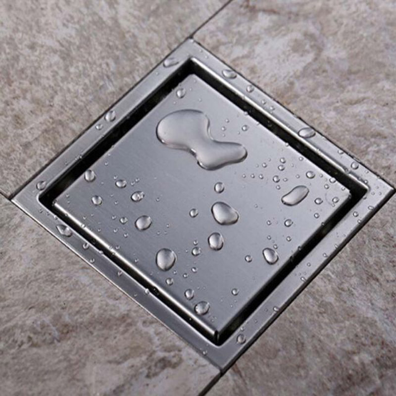 Free Shipping Modern Bathroom Shower Floor Drain Washer Waste Drain Modern Square Grate free shipping bathroom shower floor drain oil rubbed bronze grate waste drain lucky finishes