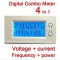 100A AC Digital Combo Frecuencia Del Metro Del Panel de Alimentación Del Monitor LCD de Alimentación Voltaje actual Del amperímetro del Voltímetro de ca 220 v 230 V 380 v blanco