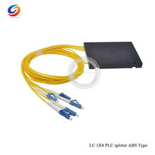 Aliexpress hottest LC UPC CONNECTOR 2.0mm 1M 1X4 ABS module Fiber Optic PLC box 2.0mm 1x4 Optical splitter(China)