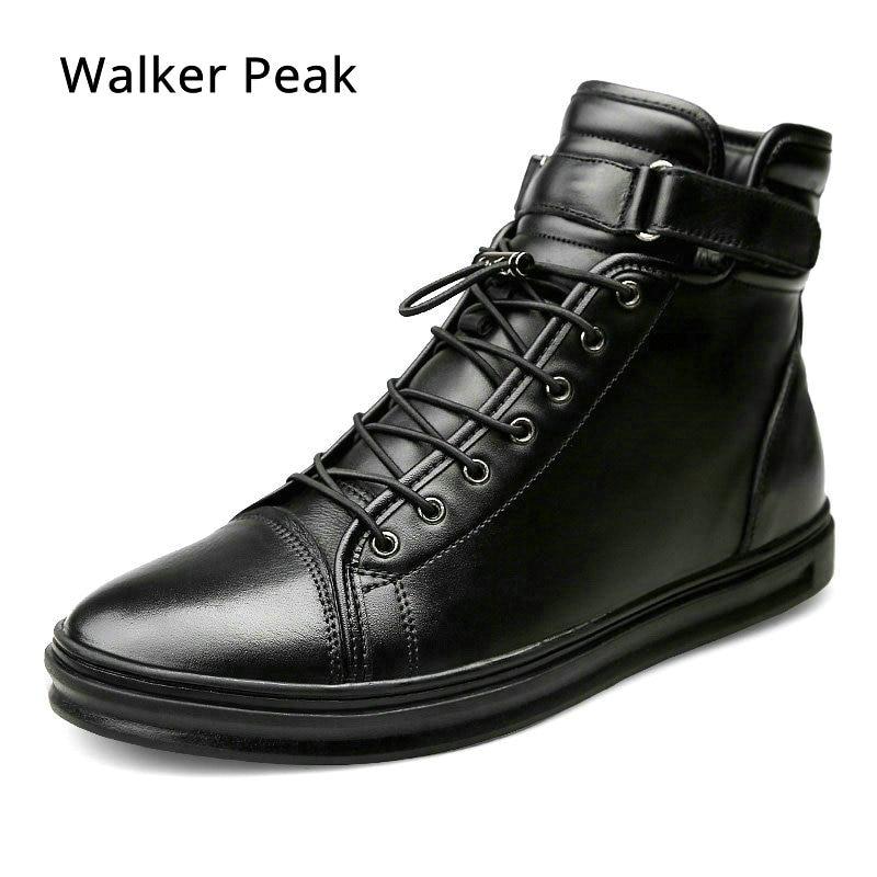 Große Größe 38 48 Herren Casual schuhe Aus Echtem Leder High top Winter Schuhe Lace up Ankle Stiefel Winter Schuhe für männer Warme Schuhe-in Freizeitschuhe für Herren aus Schuhe bei  Gruppe 1