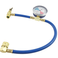 Durable R134a Recharge Measuring Hose Valve Pressure Gauge Adapter Mayitr Car A C Air Conditioning Refrigerant