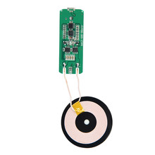 Universal DC 5V QI Wireless Charging PCBA Circuit Board + Coil Receiver Charger Module For Micro USB Mobile Cell Phone цена