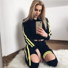 2018 Autumn Winter Fashion Women Sexy Sweatshirts Set Crop Hooded Sweatshirt Long Sleeve Crop Top And Pants Suit 2pcs outfit set