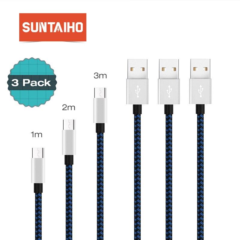 Suntaiho usb tipo-c cabo [3 pacote] 1 m 2 m 3m carregamento rápido e sincronização de dados tipo-c cabo de carregador usb para macbook xiaomi 4c nexus 5x