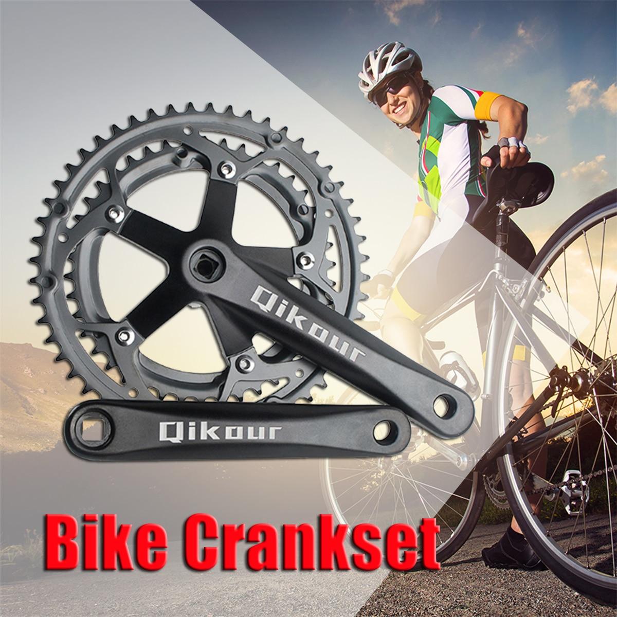 цена на Aluminum 52/42T Mountain Bicycle Crankset For BMX/Folding Bike 2x9/10S Crankset with Chainring Crankset Road Bike