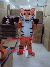 Sommer heißer verkauf!! Neue Erwachsene tiger katze mit anzüge schuhe hände maskottchen kostüm-fantasie-partei kleid Halloween kostüm