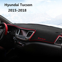 цена на Car Dashboard Avoid Light Pad Instrument Platform Cover Mats Carpets LHD For Hyundai Tucson TL 2015 2016 2017 2018 Accessories