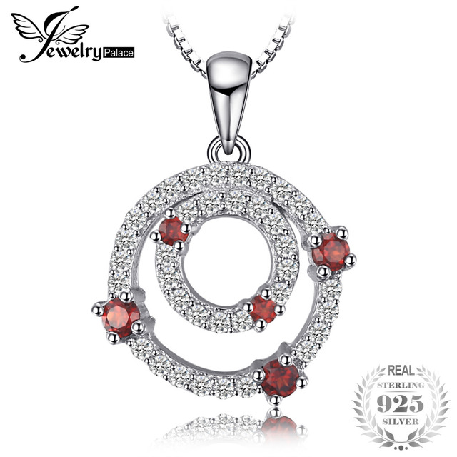 Jewelrypalace double circle 01ct red garnet pendants 100 925 jewelrypalace double circle 01ct red garnet pendants 100 925 sterling silver fine jewelry not aloadofball Image collections