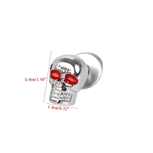 Image 5 - 4PCS Useful Motorcycle Chrome Skull License Plate Frame Bolts Screws Caps Fastener Nuts Bolts Nails Screws INY