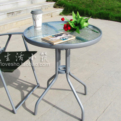 Glass small table small round table outdoor occasional ...