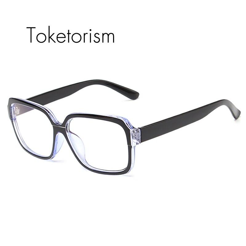e0501c83e928fe Click here to Buy Now!! Toketorism Haute mode anti rayonnement bleu ray optique  lunettes cadre pour hommes femmes lunettes d