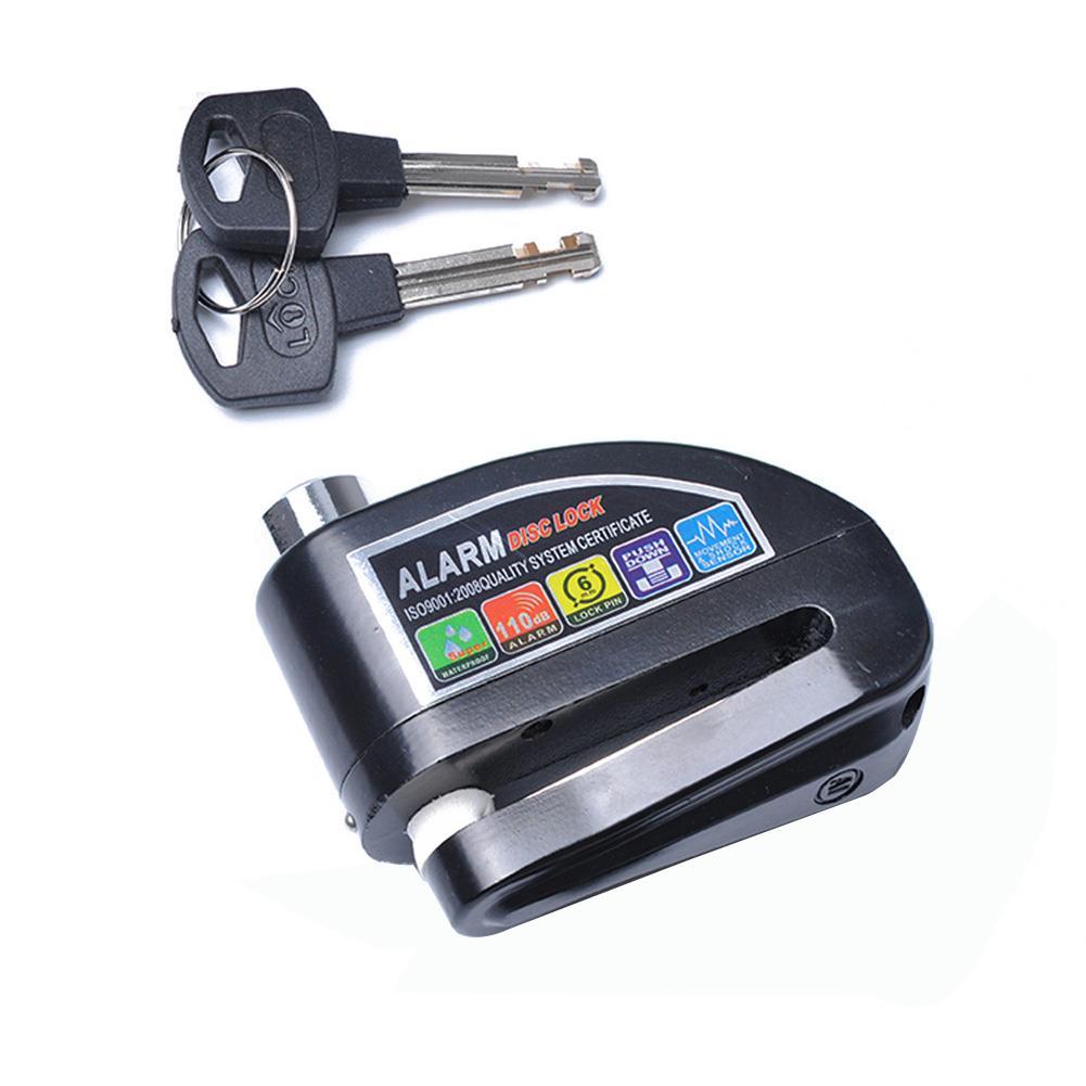 Motorcycle Disc Brake Lock Motorbike EScooter Bicycle Aluminum Anti-theft Wheel EBike Disc Brake Lock Security Alarm Protection