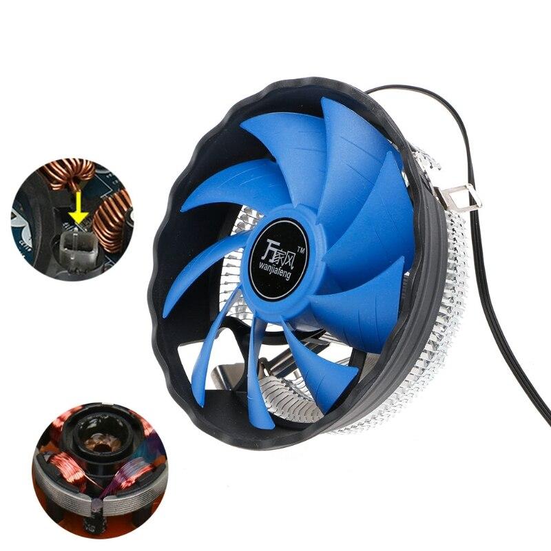 ANENG 12cm Blade Aluminium PC CPU Cooler Cooling Fan For Intel 775/1155 AMD 754/AM2