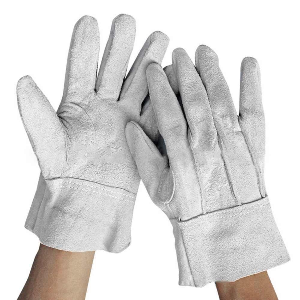 耐火耐久性牛革溶接機手袋快適な抗熱作業安全手袋溶接金属ハンドツール