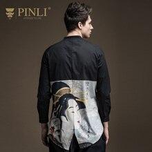 Pinli Promotion Voll Casual Shirts Druck Produkte 2017 Frühling Neuen männer Vintage Gedruckt Langärmeliges Hemd Mens B171413105
