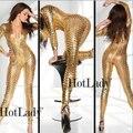 Las mujeres de Oro de Plata Negro Sexy Hollow Nightclub Cantante de Hip Hop Jazz Danza Traje Rihanna Traje Trajes de la Etapa Para Cantantes