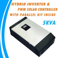 5KVA Pure Sine Wave Hybrid Solar Inverter Built in PWM Solar Charge Controller with Parallel Kit Inside for Home Use PS 5K