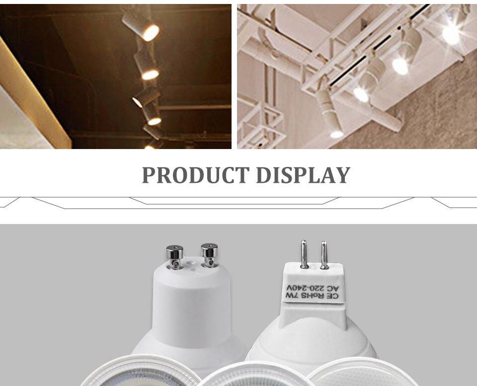 GU5.3 GU10 MR16 220V Lampada LED Spotlight 4W 5W 6W 7W 8W LED Lamp Light LED Bulb Table Downlight Ceiling Light Warm White Lamp (12)