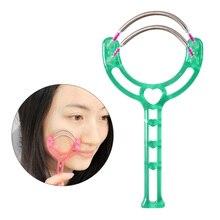 De plástico de mano doble Springs rodillo de la cara cabello depiladora de roscado belleza depiladora herramienta