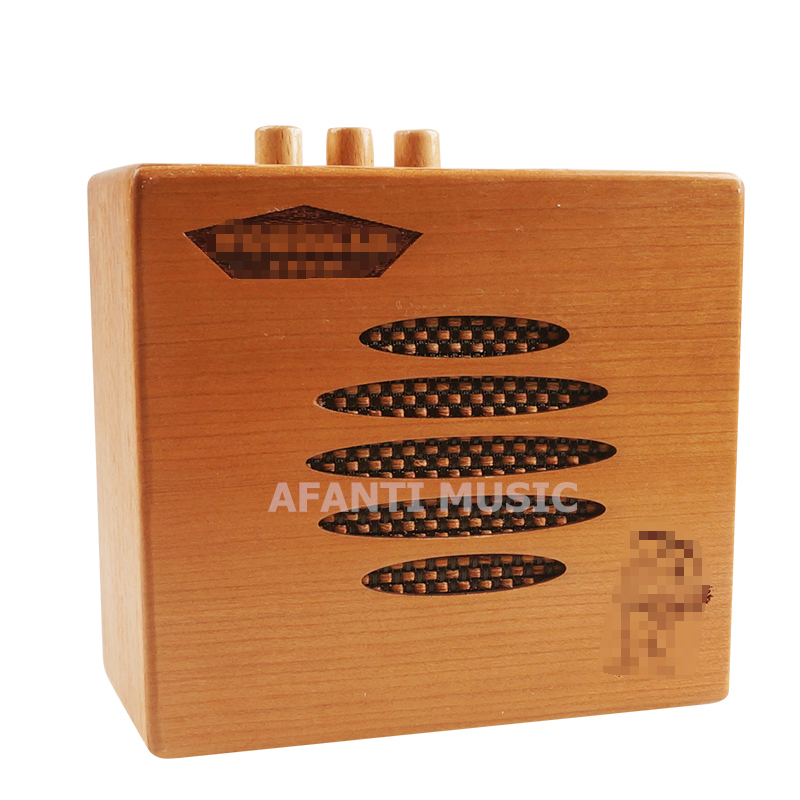 Afanti Music Acoustic Guitar / Portable / wood Amplifier (AMP-112) aroma ag 03m 5w guitar amp recorder speaker tf card slot compact portable multifunction guitar amplifier usb data line