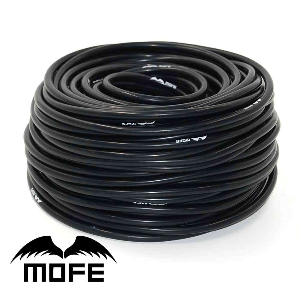 10.19 MOFE Universal 5meter Black Silicone Hose.3mm/4mm/6mm/8mm Silicone Vacuum Tubing