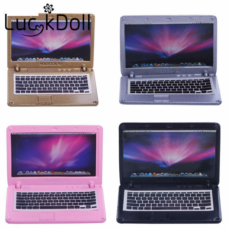 5 Color Mini Laptop Computer Doll House Fit 18 Inch American&43 CM Baby Doll Clothes Accessories,Girl's Toys,Generation,Birthday