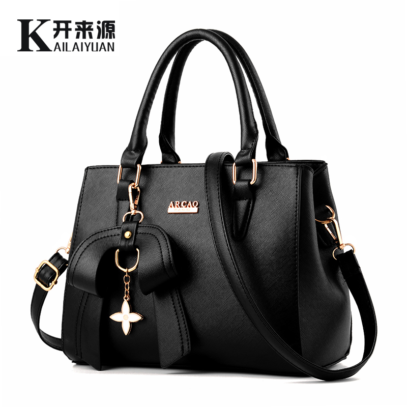 KLY 100% Del cuoio Genuino Delle Donne della borsa 2018 Nuova versione Coreana femminile stereotipato dolce di modo borse borse a Tracolla Messenger