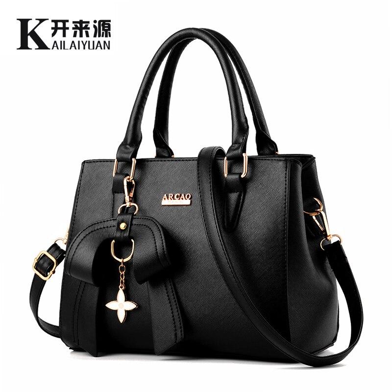 KLY 100% Véritable cuir Femmes sac à main 2018 Nouvelle femme Coréenne version stéréotypés doux de mode sacs à main Messenger Messenger